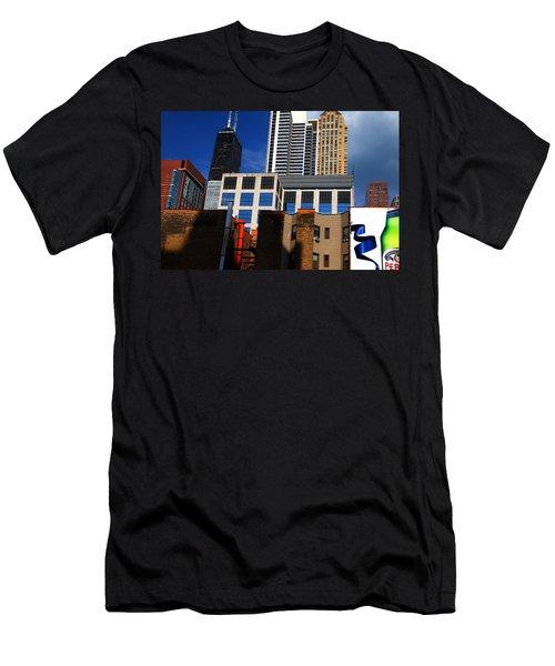 Skyline Building Blocks Men's T-Shirt (Athletic Fit)
