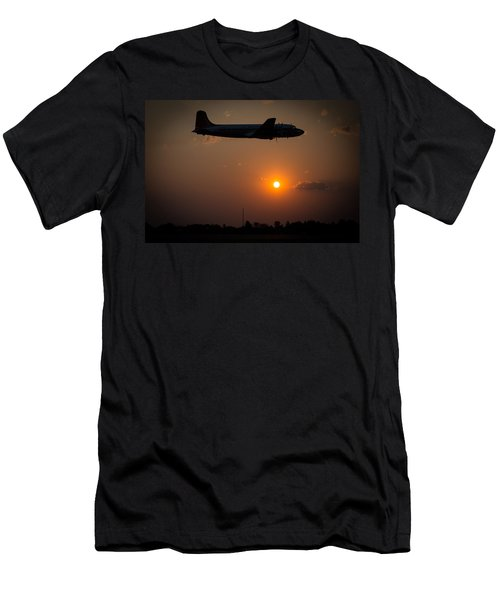 Men's T-Shirt (Athletic Fit) featuring the photograph Skymaster Sunset by Paul Job