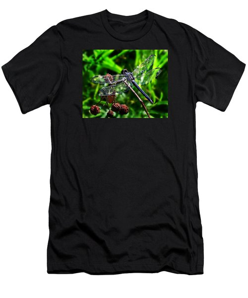 Slaty Skimmer Dragonfly Men's T-Shirt (Slim Fit) by William Tanneberger
