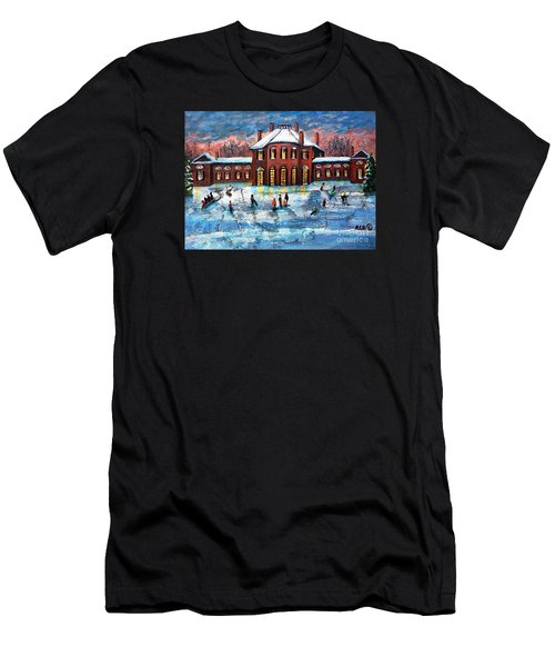 Sledding At The Gore Estate Men's T-Shirt (Athletic Fit)