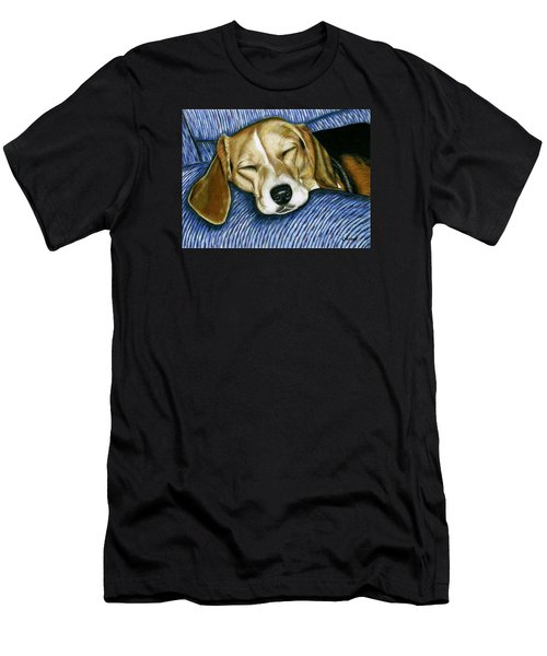 Sleeping Beagle Men's T-Shirt (Athletic Fit)