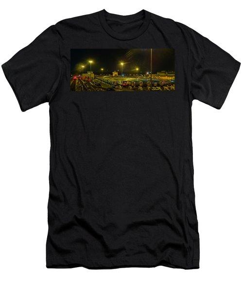 Sleeping Subways Men's T-Shirt (Slim Fit) by Jeffrey Friedkin