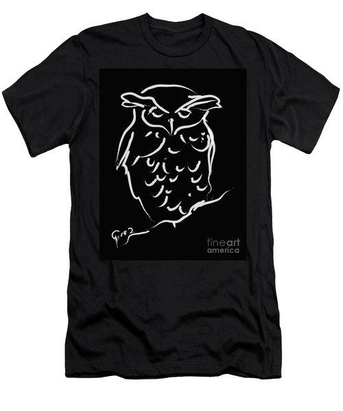 Sleepy Owl Men's T-Shirt (Athletic Fit)