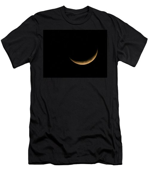Men's T-Shirt (Slim Fit) featuring the photograph Slender Waxing Crescent Moon by Katie Wing Vigil