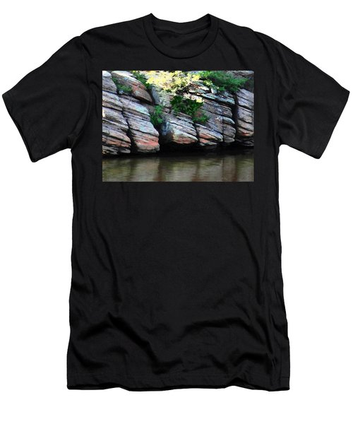 Sliced Rock Men's T-Shirt (Athletic Fit)