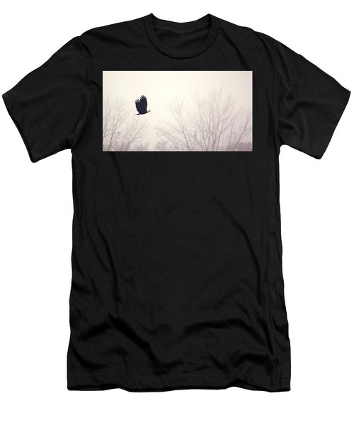 Slicing Through The Fog Men's T-Shirt (Slim Fit) by Melanie Lankford Photography