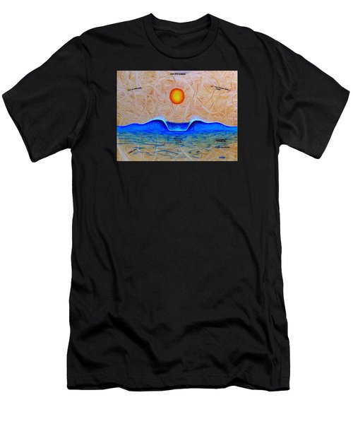 Slow Down And Breathe Men's T-Shirt (Athletic Fit)