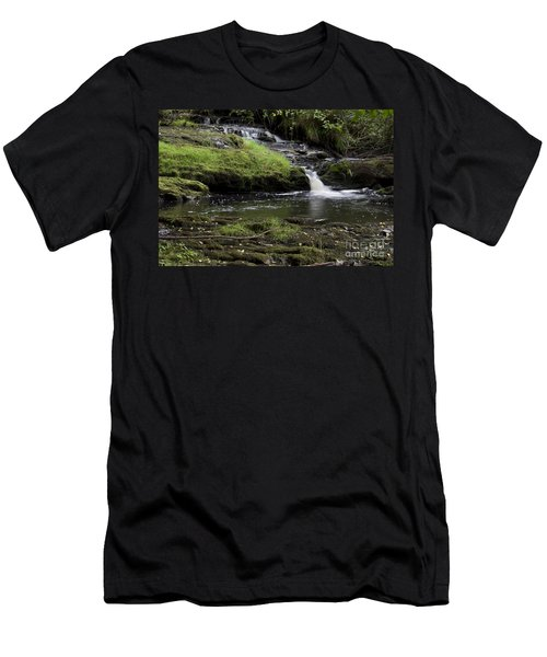 Small Falls On West Beaver Creek Men's T-Shirt (Slim Fit) by Kathy McClure