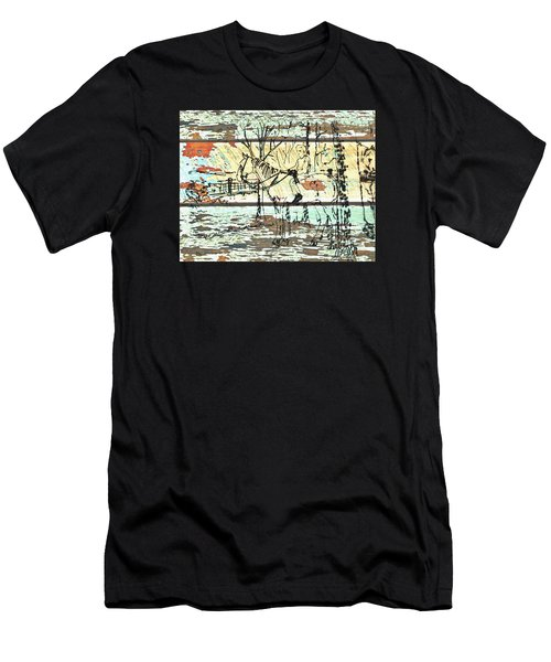 His First Horse  Men's T-Shirt (Slim Fit) by Larry Campbell