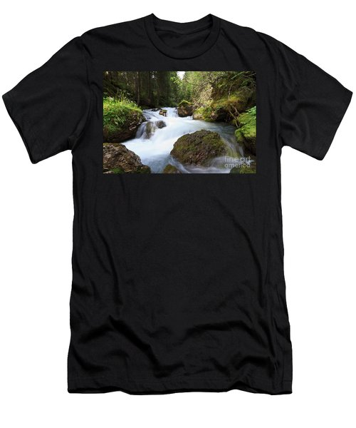 Men's T-Shirt (Slim Fit) featuring the photograph Small Stream by Antonio Scarpi