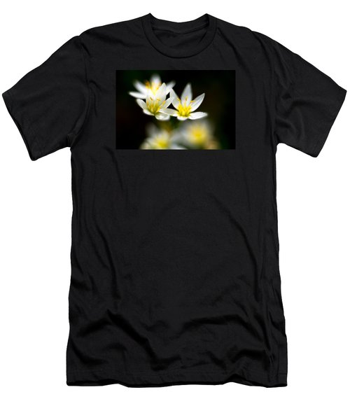 Men's T-Shirt (Slim Fit) featuring the photograph Small White Flowers by Darryl Dalton