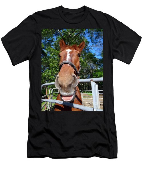 Men's T-Shirt (Slim Fit) featuring the photograph Smile by Ed Weidman