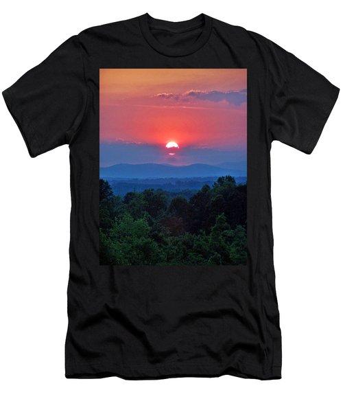 Smokey Mtn Sunset Men's T-Shirt (Athletic Fit)