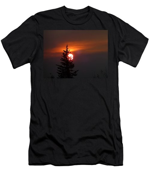 Smokey Sky  Men's T-Shirt (Athletic Fit)