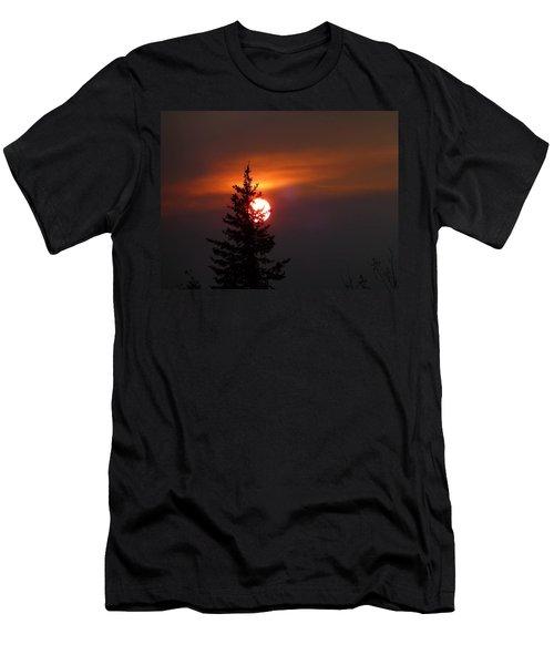 Smokey Sky  Men's T-Shirt (Athletic Fit)