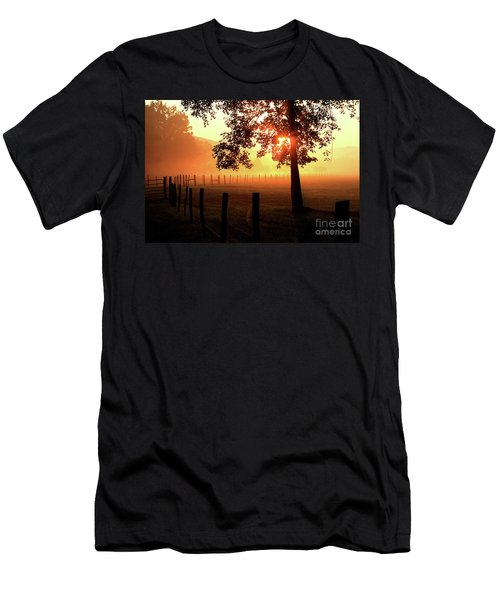 Smoky Mountain Sunrise Men's T-Shirt (Athletic Fit)