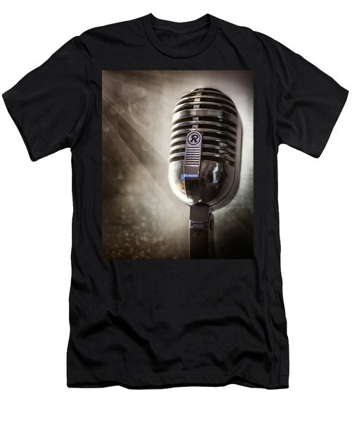 Smoky Vintage Microphone Men's T-Shirt (Athletic Fit)