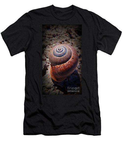 Men's T-Shirt (Slim Fit) featuring the photograph Snail Beauty by Clare Bevan