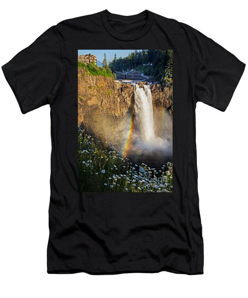 Snoqualmie Falls  Men's T-Shirt (Slim Fit) by Sonya Lang