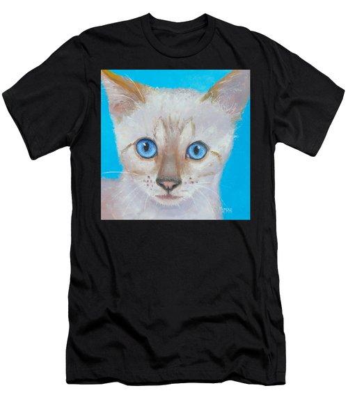 Snow Bengal Cat Men's T-Shirt (Athletic Fit)