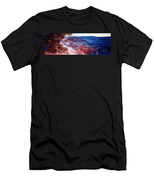 Snow In Bryce Canyon National Park Men's T-Shirt (Athletic Fit)
