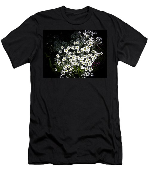Men's T-Shirt (Slim Fit) featuring the photograph Snow In Summer by Joann Copeland-Paul