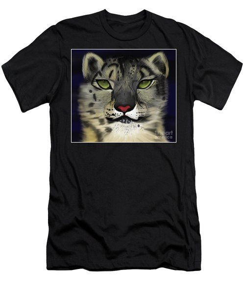 Snow Leopard - The Eyes Have It Men's T-Shirt (Athletic Fit)