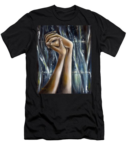 Men's T-Shirt (Slim Fit) featuring the painting Snow Light by Hiroko Sakai