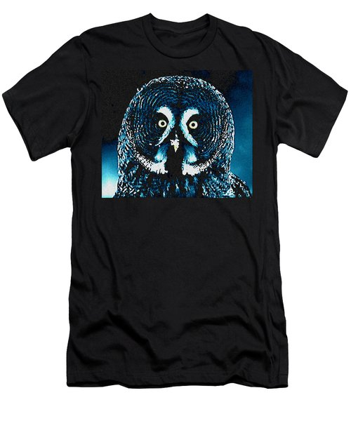 Snow Owl Men's T-Shirt (Athletic Fit)