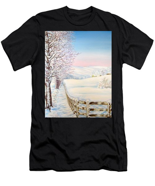 Snow Path Men's T-Shirt (Athletic Fit)