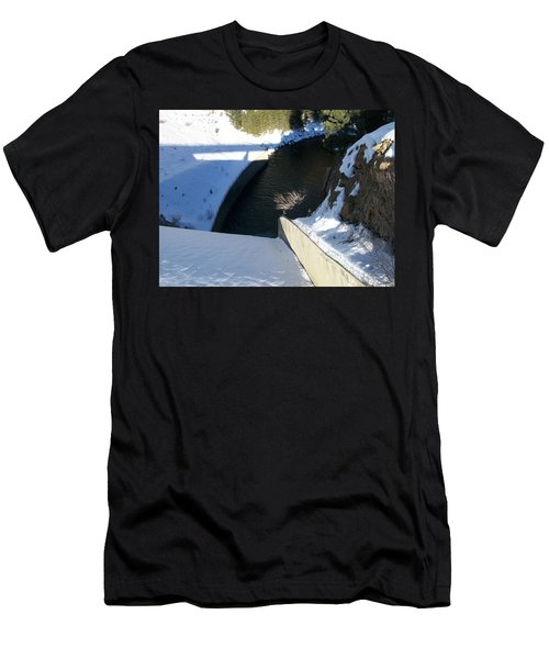Men's T-Shirt (Slim Fit) featuring the photograph Snow Slide by Jewel Hengen