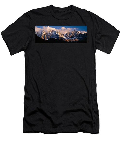 Snowcapped Mountain Peaks, Dolomites Men's T-Shirt (Athletic Fit)