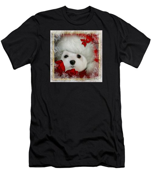 Snowdrop  And  Santa Hat Men's T-Shirt (Athletic Fit)