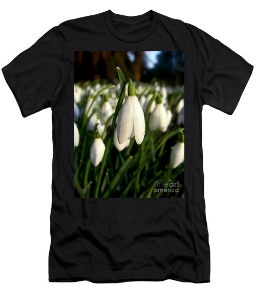 Men's T-Shirt (Slim Fit) featuring the photograph Snowdrops by Nina Ficur Feenan