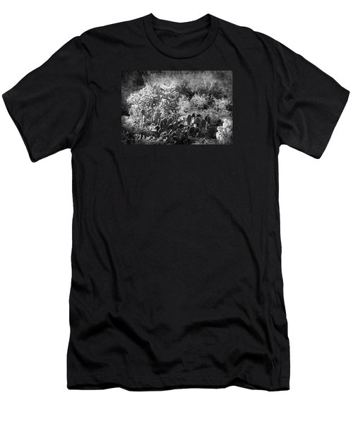 Men's T-Shirt (Slim Fit) featuring the photograph Snowfall In The Desert by Phyllis Denton