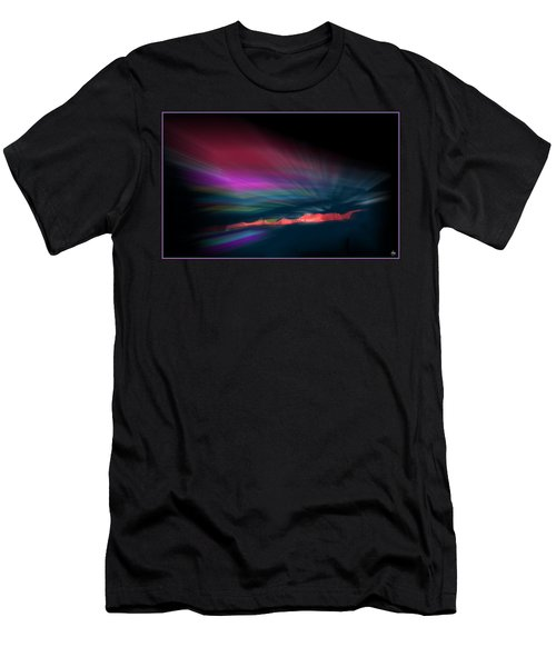 Snowfence Borealis Men's T-Shirt (Athletic Fit)