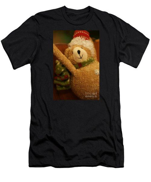 Snowflake Men's T-Shirt (Slim Fit) by Linda Shafer