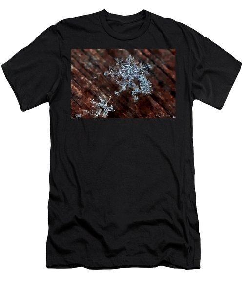 Snowflake Men's T-Shirt (Slim Fit) by Suzanne Stout
