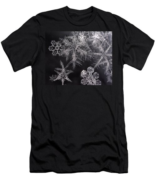 Snowflakes Men's T-Shirt (Slim Fit) by Eunice Gibb
