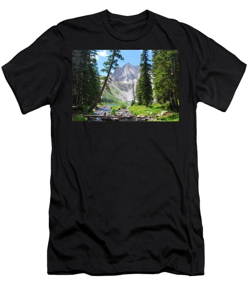 Snowmass Peak Landscape Men's T-Shirt (Athletic Fit)
