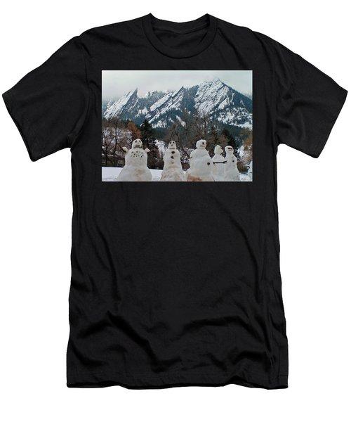 Flatiron Snowmen. Men's T-Shirt (Athletic Fit)