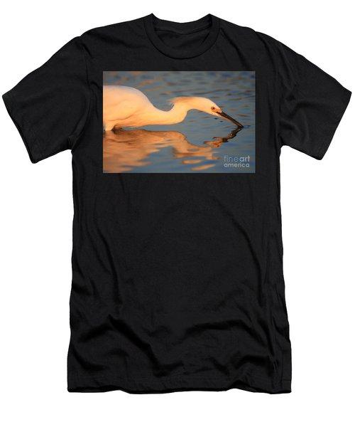 Snowy Egret Mirror Men's T-Shirt (Athletic Fit)