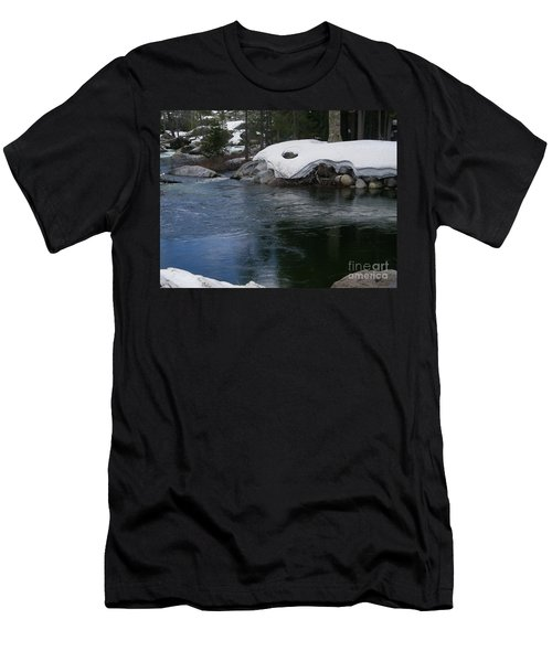 Men's T-Shirt (Slim Fit) featuring the photograph Snowy River Bend by Bobbee Rickard