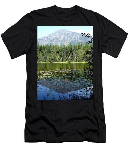 Men's T-Shirt (Slim Fit) featuring the photograph Snyder Lake Reflection by Kerri Mortenson