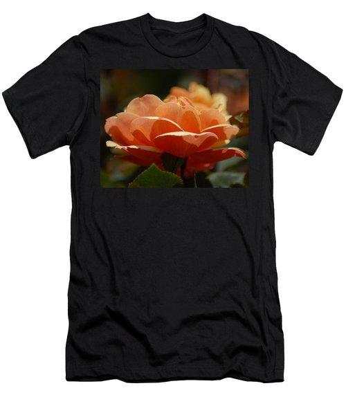 Soft Orange Flower Men's T-Shirt (Slim Fit) by Matt Harang