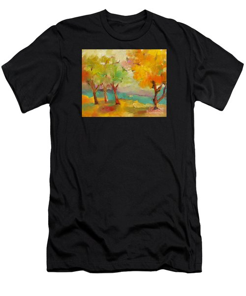Men's T-Shirt (Athletic Fit) featuring the painting Soft Trees by Michelle Abrams