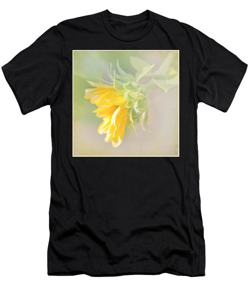 Soft Yellow Sunflower Just Starting To Bloom Men's T-Shirt (Athletic Fit)
