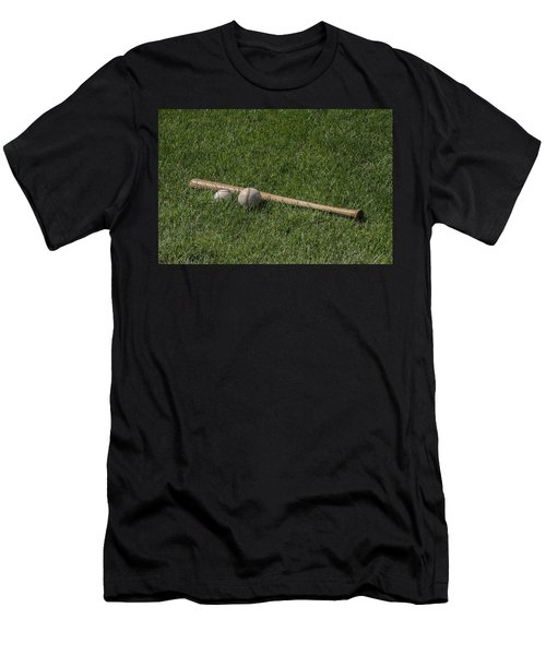 Softball Baseball And Bat Men's T-Shirt (Athletic Fit)