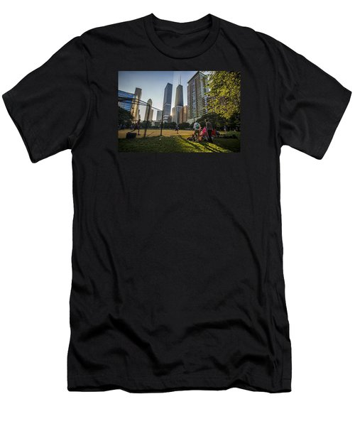Softball By Skyscrapers Men's T-Shirt (Athletic Fit)