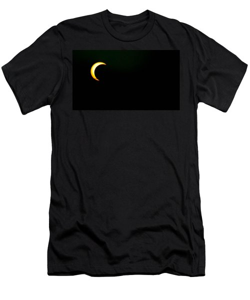 Men's T-Shirt (Slim Fit) featuring the photograph Solar Eclipse 2012 by Angela J Wright